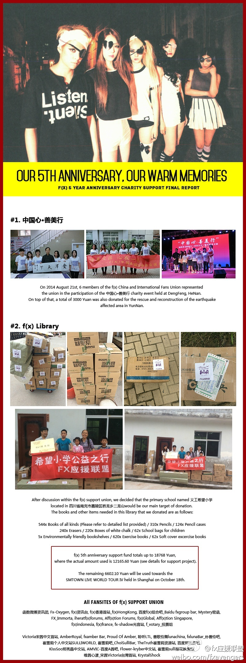 2014 f(x) Debut 5th Anniversary 'Charity Project' 1