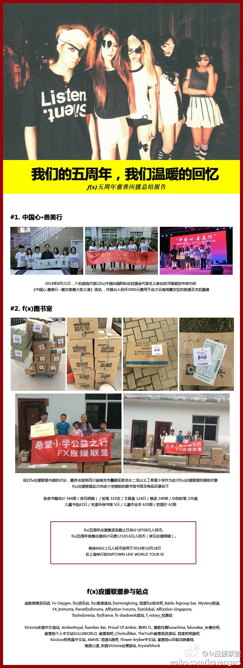 2014 f(x) Debut 5th Anniversary 'Charity Project' 2