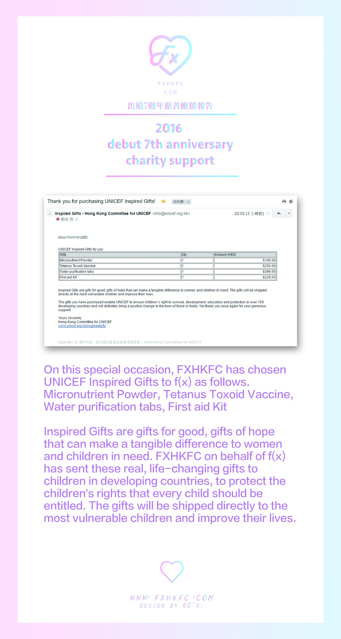 f(x) Debut 7th Anniversary 'Charity Project'2