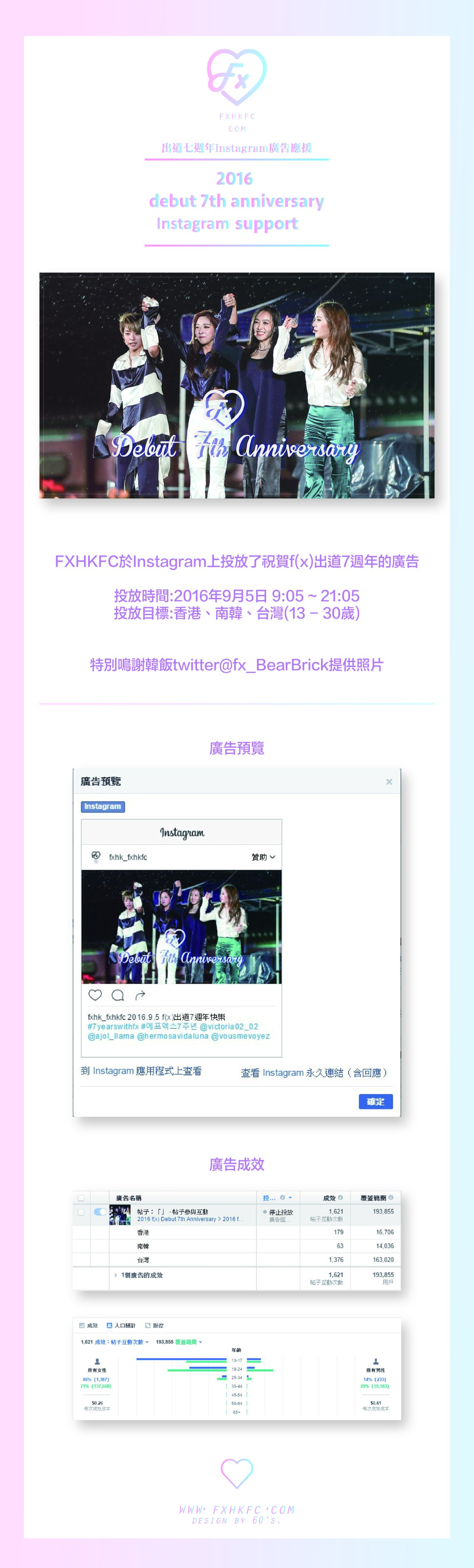 f(x) Debut 7th Anniversary 'Instagram Project'